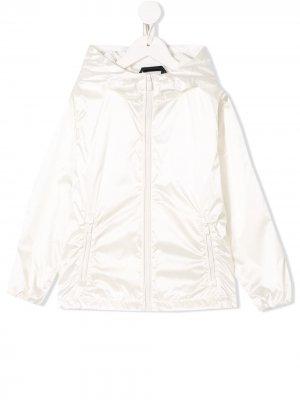 Куртка на молнии с капюшоном Ciesse Piumini Junior. Цвет: белый