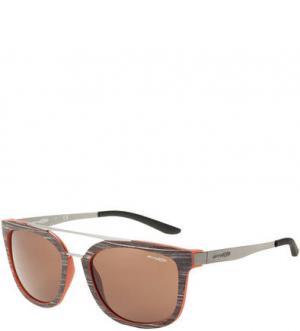 Солнцезащитные очки в пластиковой оправе Junkture Arnette. Цвет: серый