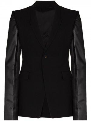 Пиджак Sharp с контрастными рукавами Rick Owens. Цвет: черный