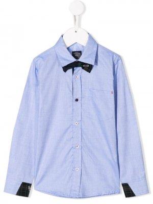 Рубашка с галстуком-бабочкой Lapin House. Цвет: синий