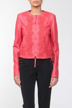 Кожаная куртка Blumarine. Цвет: красный