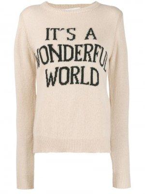 Джемпер Its A Wonderful World Alberta Ferretti. Цвет: нейтральные цвета