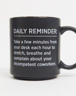 Кружка с надписью Daily reminder Typo-Черный TYPO