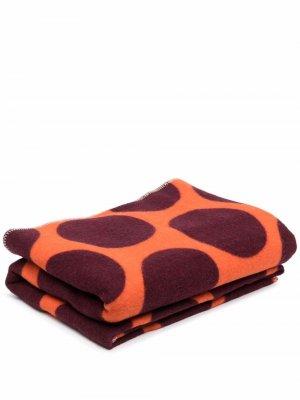 Одеяло с геометричным узором colville. Цвет: оранжевый