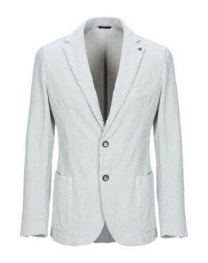 Пиджак EXIGO. Цвет: светло-серый