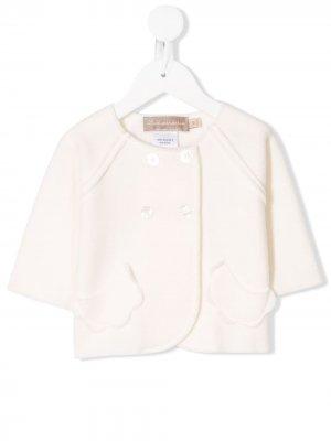 Приталенный двубортный пиджак La Stupenderia. Цвет: белый