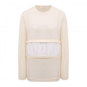 Шерстяной пуловер Comme des Garcons. Цвет: бежевый