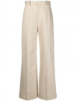 Широкие брюки Bottega Veneta. Цвет: нейтральные цвета