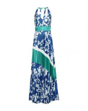 Длинное платье MIKAEL. Цвет: ярко-синий