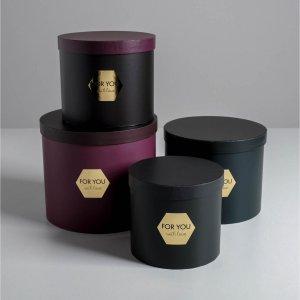 Набор шляпных коробок для цветов 4 в 1 Дарите Счастье