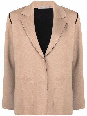 Single-breasted wool-blend blazer D.Exterior. Цвет: нейтральные цвета