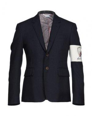 Пиджак THOM BROWNE. Цвет: темно-синий