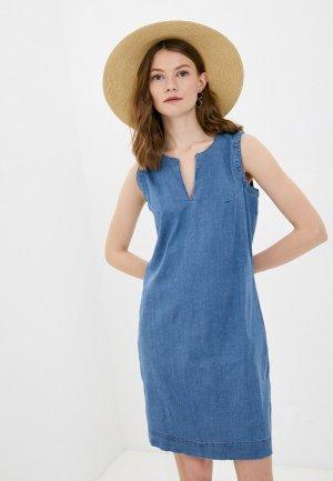 Платье джинсовое Colins Colin's. Цвет: синий