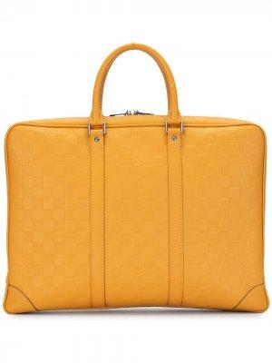 Портфель Porte Documents Voyage 2013-го года pre-owned Louis Vuitton. Цвет: оранжевый