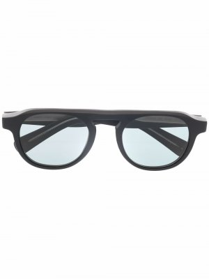 Солнцезащитные очки Harding X в круглой оправе Garrett Leight. Цвет: черный