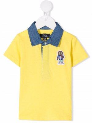 Рубашка поло с нашивкой Harmont & Blaine Junior. Цвет: желтый