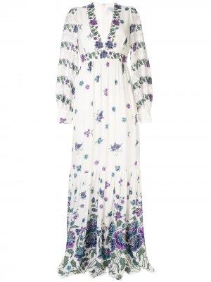 Вязаное платье макси Andrew Gn. Цвет: белый
