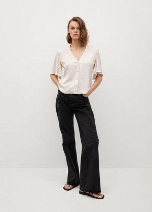 Струящаяся атласная блузка - Cecil Mango. Цвет: экрю