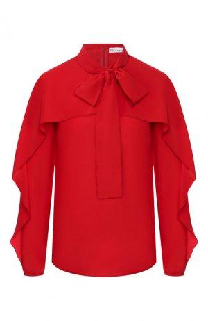 Шелковая блузка REDVALENTINO. Цвет: красный