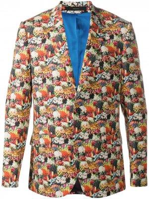Пиджак с цветочным принтом Paul Smith. Цвет: красный
