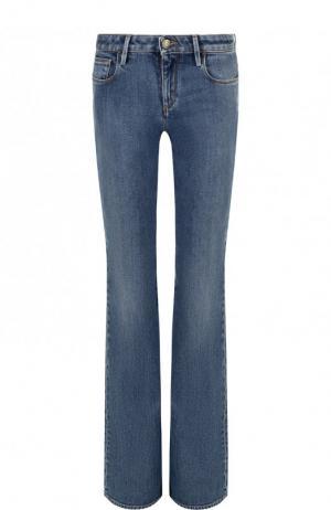Расклешенные джинсы с потертостями Roberto Cavalli. Цвет: синий