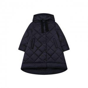 Стеганое пальто Il Gufo. Цвет: синий