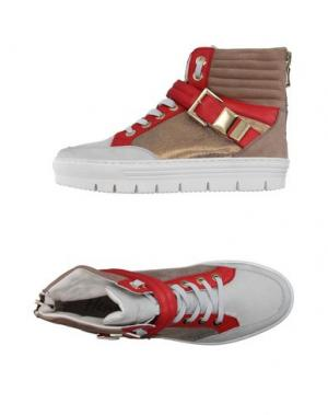 Высокие кеды и кроссовки HENNE. Цвет: светло-серый
