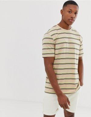 Свободная футболка из органического хлопка в полоску -Мульти ASOS DESIGN