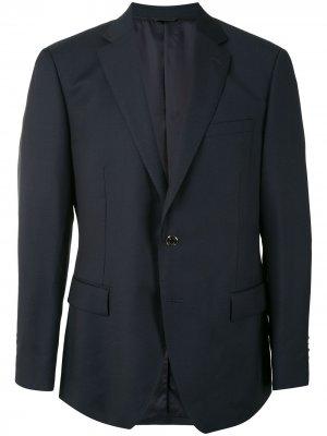 Durban однобортный пиджак узкого кроя D'urban. Цвет: синий