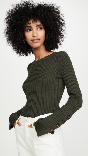 Ribbed Crew Pullover Autumn Cashmere