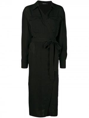 Платье-рубашка асимметричного кроя Derek Lam. Цвет: черный