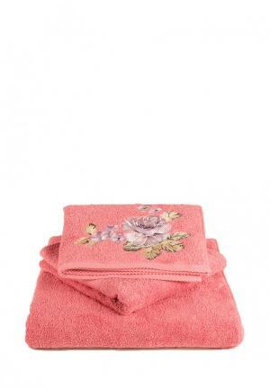 Набор полотенец Bellehome Кантри. Цвет: розовый