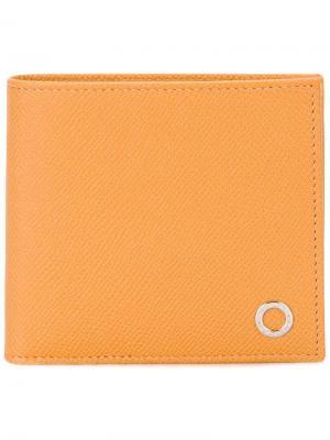 Классический бумажник Bulgari. Цвет: жёлтый и оранжевый