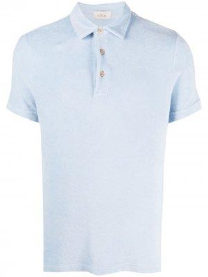 Махровая рубашка поло Altea. Цвет: синий