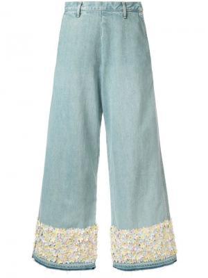 Широкие джинсы с декоративной отделкой Tu es mon TRÉSOR
