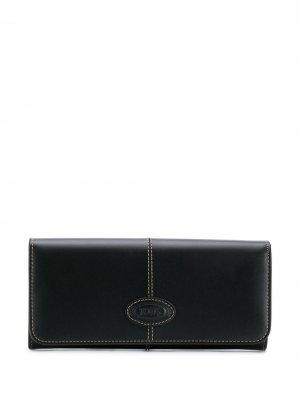 Tods continental flap wallet Tod's. Цвет: черный