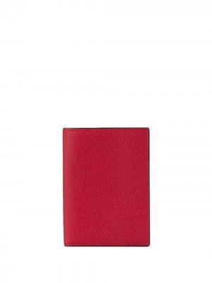 Обложка для паспорта с зернистым эффектом Valextra. Цвет: красный