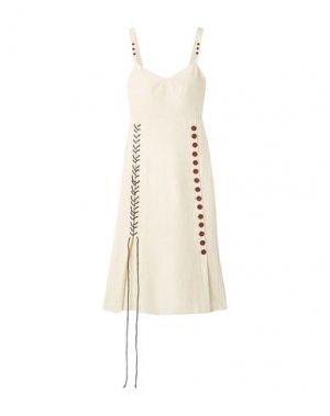 Платье длиной 3/4 BY MALENE BIRGER. Цвет: слоновая кость
