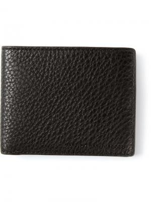 Бумажник из зернистой кожи Martin Marc By Jacobs. Цвет: чёрный
