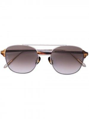 Солнцезащитные очки Reed в квадратной оправе Linda Farrow. Цвет: золотистый