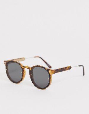 Круглые солнцезащитные очки в черепаховой оправе post punk-Коричневый Spitfire