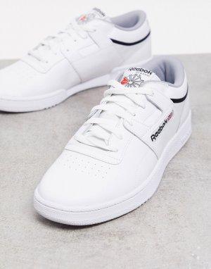 Белые кожаные кроссовки club workout-Белый Reebok