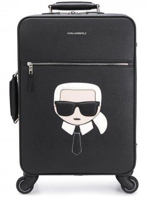 Чемодан K/Ikonik Karl Lagerfeld. Цвет: черный