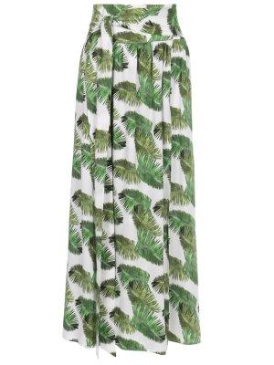 Юбка с принтом MELISSA ODABASH. Цвет: зеленый