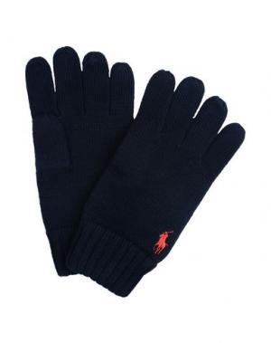 Перчатки POLO RALPH LAUREN. Цвет: темно-синий