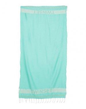 Пляжное полотенце TWINSET. Цвет: светло-зеленый