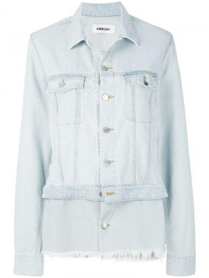 Джинсовая куртка с двойной кромкой Ambush. Цвет: синий