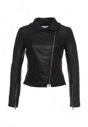 Куртка кожаная Patrizia Pepe PA748EWPAF26. Цвет: черный