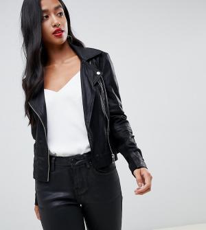 Кожаная байкерская куртка -Черный Y.A.S Petite