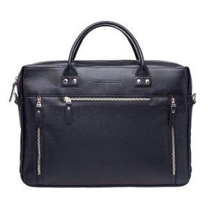 Кожаная деловая сумка для ноутбука Barossa Black